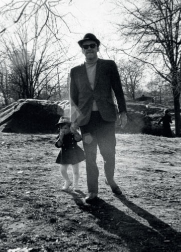 "With my father Seymour ""Sy"" Unger.  Central Park, circa 1969"