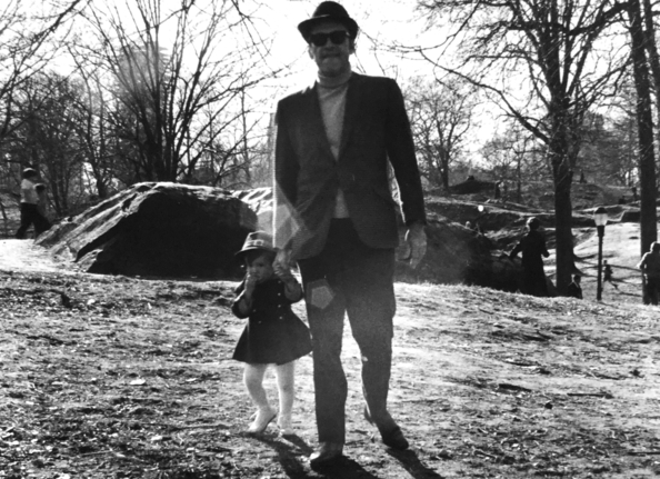 "Melissa Unger with her father Seymour ""Sy"" Unger in Central Park, 1969. ""Seymour Projects is named after my father. Our endeavors are dedicated to his memory."""